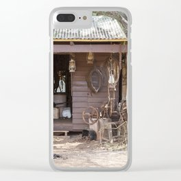 Old Timers Hut Clear iPhone Case