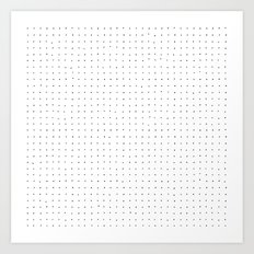 Swiss Dot - White Art Print