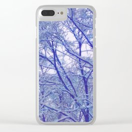 Winter lace Clear iPhone Case