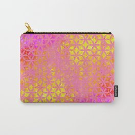 Flower of Life Paint Pattern Pink Gold Carry-All Pouch