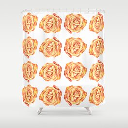 Pretty Pink Rose Floral Design Shower Curtain