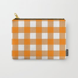 Gingham (Orange/White) Carry-All Pouch