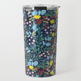 Floral Garden - Blue Travel Mug