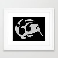 kiwi Framed Art Prints featuring Kiwi by mailboxdisco