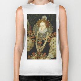 Portrait of Elizabeth I Biker Tank