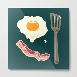 bacon & eggs, jungle green Metal Print