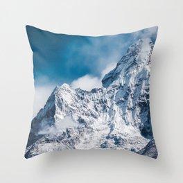 Ama Dablam Himalaya Mountain Throw Pillow