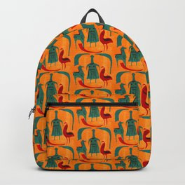 Ethnic pattern with woman, chicken, horse Backpack