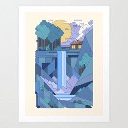 La cabane du trappeur Art Print