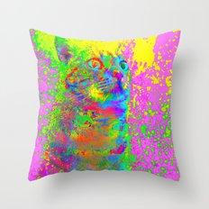 Catsplosion-Lady Jasmine Throw Pillow