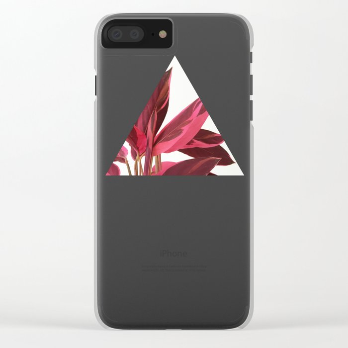 Red Leaves II Clear iPhone Case