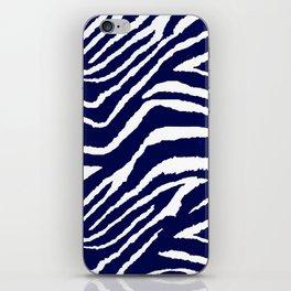 ZEBRA ANIMAL PRINT BLUE AND WHITE 2019 iPhone Skin