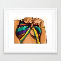 mcfreshcreates Framed Art Prints featuring Peek by McfreshCreates