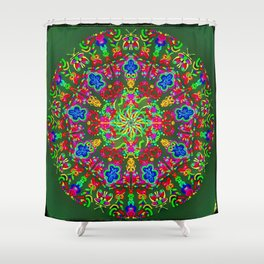 Magic butterfly circle Shower Curtain