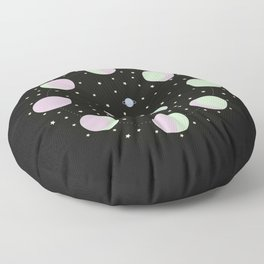 And You? - Moon Phases Illustration Floor Pillow
