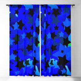 Punk Rock Stars Blue Blackout Curtain