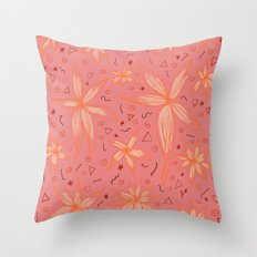 Floral 5 Throw Pillow