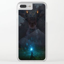 Swamp Dragon Clear iPhone Case