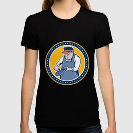 Shoemaker Cobbler Circle Cartoon T-shirt