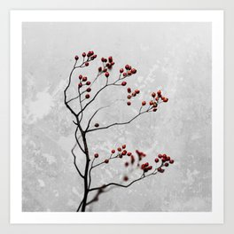 Abstract Flowers 6 Art Print