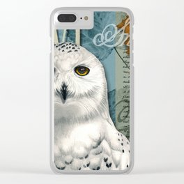The Snowy Owl Journal Clear iPhone Case