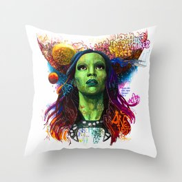 Gamora Throw Pillow
