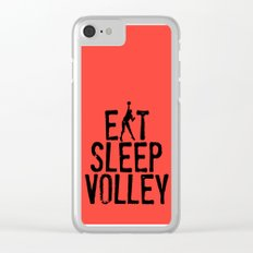 Eat Sleep Volley Clear iPhone Case