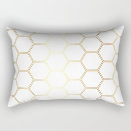 Honeycomb - Gold #170 Rectangular Pillow