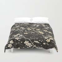 sakura Duvet Covers featuring Sakura by Paula Belle Flores