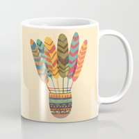 rustic Mugs featuring Rustic shuttlecock by Picomodi