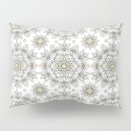 Openwork pattern on a white background. Pillow Sham