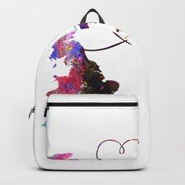 Britain to GuineaBissau  Quote Art Design Inspirat Backpack