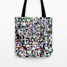 Abstract 8 Bit Pattern Tote Bag