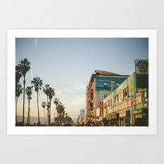 Venice Beach Boardwalk Art Print