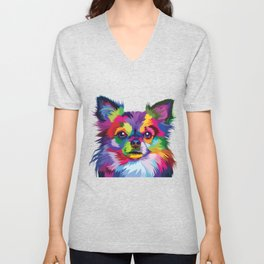 Colorful Chihuahua Unisex V-Neck
