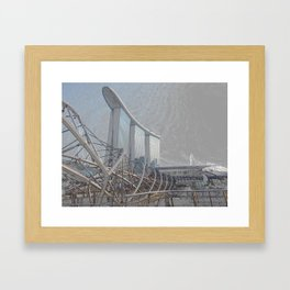 Boarding The Ship Up There Framed Art Print