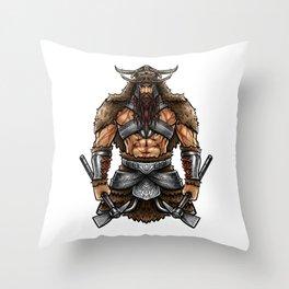 Norseman Berserker | Viking Warrior Valhalla Odin Throw Pillow