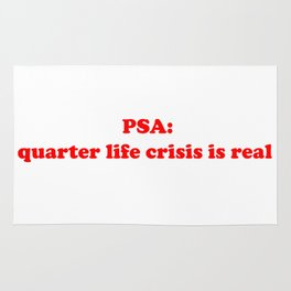 quarter life crisis Rug