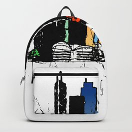 Hong Kong City Watercolor Backpack