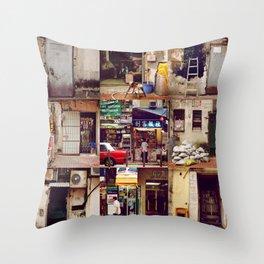 Doors of Hong Kong Throw Pillow