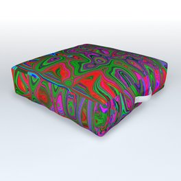 Psychedelic Happened Outdoor Floor Cushion
