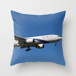 El Al Boeing 777 Throw Pillow