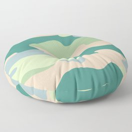 Pastel camouflage pattern design  Floor Pillow