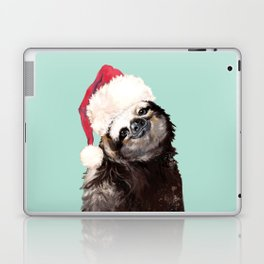 Christmas Sloth in Green Laptop & iPad Skin