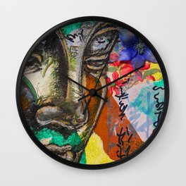 Gazing Buddha Wall Clock