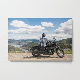 The getaway - Motorbike Poster Metal Print
