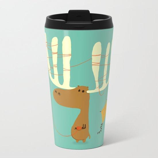 A moose ing Metal Travel Mug