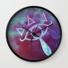 Watercolored Eye of Sheikah Wall Clock