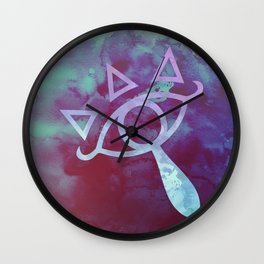 Watercolored Eye of Sheikah Wall Clock
