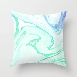 Emerald garden Throw Pillow